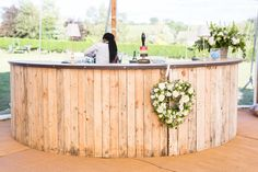 Circular Oak Bar - image courtesy of Natasha Cadman Photography