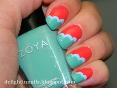 Delight in Nails: Copy Cat Sat - Nailside - Cloud Nails with Julep Mandy & Jessica + Zoya Wednesday