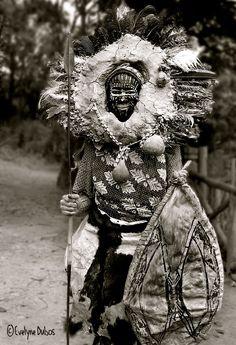 Africa | Portrait of a Kikuyu Warrior.  Kenya  © Evelyne Dubos