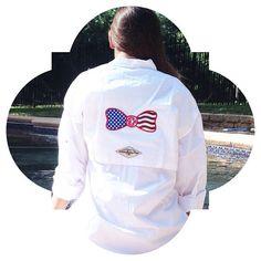 Bow Back Monogram American Flag