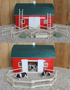 Custom Handmade Wooden Toy Barn. $450.00, via Etsy.