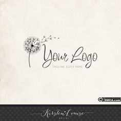 I like the dandelion the font could be good and it is simple.  I am afraid this particular logo might be a bit overused though ..............Premade Dandelion Logo Dandelion Logo Logo by KirstenLouiseDesign