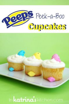 Peeps Peek a Boo Cupcakes- SO cute and easy! I am making these EVERY year!!!