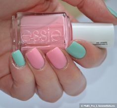 Essie #19 Need a Vacation, Essie 99 Mint Candy Apple+Dance Legend Dotty Top