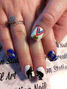 wrestling team nail art Spirit Nails, Pedi Perfect, Wrestling Team, Girly Things, Girly Stuff, Nails Inspiration, Cute Nails, Health And Beauty, Nail Designs