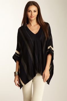 Dex  Wide Stripe Poncho