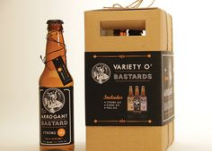 "Branding, packaging, illustration, ""Variety O' Bastards"" Beer"