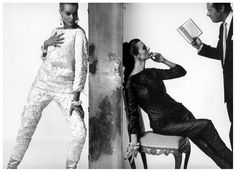 Veruschka Von Lehndorff, Tilly Tizzani and Rex Harrison,Vogue, 1961 Photo Bert Stern Bert Stern, 60s Vintage Clothing, Vintage Outfits, 1960s Fashion, Vintage Fashion, Fashion Models, Vintage Style, Fashion Through The Decades, How To Read People