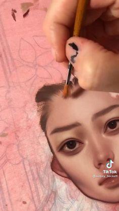 Art Painting Tools, Acrylic Portrait Painting, Art Painting Gallery, Kelsey Beckett, Arte Sketchbook, Art Drawings Sketches Simple, Art Tips, Art Techniques, Aesthetic Art