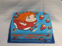 Ponyo cake on Cake Central.