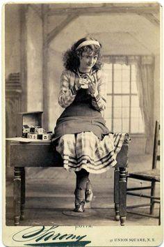 Napoleon Sarony Studio - 37 Union Square, NY. ~ Cabinet Card image of American Gilded Age era actress/comedian, and philanthropist: Lotta Crabtree, (1847-1924). ~ {cwl} ~ (Image: tumblr)