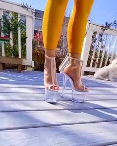 Hot High Heels, Sexy Heels, High Heels Stilettos, Womens High Heels, Stiletto Heels, High Platform Shoes, Shoe Boots, Ankle Boots, Stripper Heels