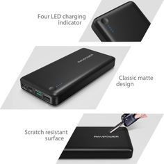 Today Deals 40% OFF RAVPower 20100mAh Quick Charge Portable Power Banks Qualcomm Certified | Amazon:   Today Deals 40% OFF RAVPower 20100mAh Quick Charge Portable Charger Qualcomm Certified QC 3.0 Input & Output USB C / Type-C Port Backwards Compatibility for Phones Tablets and More | Amazon #TodayDeals #DailyDeals #DealoftheDay - Compatible devices with Qualcomm chipset can charge up to 75% faster compared with conventional chargers. Thanks to Qualcomm QC 3.0 and RAVPower iSmart technology…