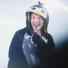 160318 EXO'luXion[dot] in Seoul  omfg thank u for dressing him like a penguin he really look like it✨ — #exo #kyungsoo #dokyungsoo