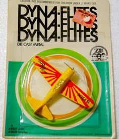 Die-cast metal airplane Dyna-Flites.  Sun Air Racing. Airplane Toys, Childhood Toys, Metal Casting, Diecast, Aviation, Racing, Sun, Awesome, Running