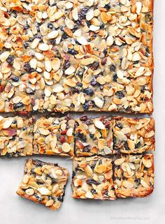 Almond Cherry Oatmeal Bars Recipe | CLICK ON for other RECIPES!