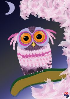 asian owl art - Google Search