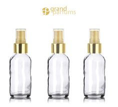 12 LUXURY Atomizers 1 or 2 Oz CLEAR Glass Perfume by GrandParfums