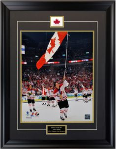 unforgettable moment. Sidney Crosby after scoring the goal that gave Canada the Gold Medal on Home Soil. Vancouver Winter Olympics 2010 #vancouver2010 #vancouver2010olympics #teamcanada #hockey #sidneycrosby touchstonesportsweb#sports #sportsfan #memorabilia #sportmemorabilia #framing #superfan #teamcanada #memories #gold #goldmedal #icehockey #flag #canadaflag #victory #heroes