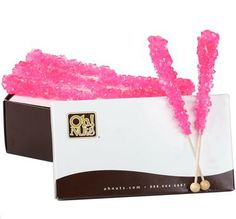 Pink Rock Candy Crystal Sticks favors