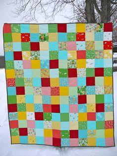 Hideaway Patchwork Quilt by terrabytefarm, via Flickr