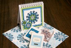 CTMH Pirouette Stamp Set on a Display Album with coordinating pages