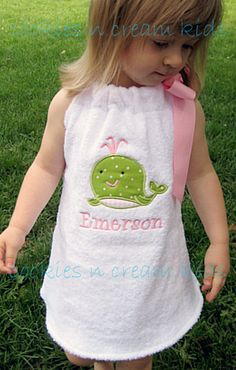 SO cute for a little girl!  Swimsuit Cover Up by cookiesncreamkids on Etsy, $35.00
