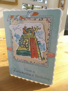 Giraffe and Pelly and Me,childrens birthday,happy birthday,Roald dahl card Roald Dahl, Giraffe, Decorative Boxes, Happy Birthday, Children, Frame, Cards, Handmade, Ebay
