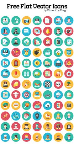 Free Flat Vector Icon Set (120 Icons)