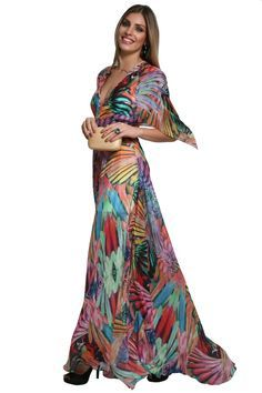 Dress & Go - Aluguel de vestidos de grandes estilistas | Vestido Arara Rosa Elegant Dresses, Beautiful Dresses, Casual Dresses, Boho Fashion, Fashion Dresses, Fashion Looks, Vestidos Vintage, Vintage Dresses, Estilo Boho