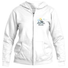 Moab, Utah Mountains and Clouds in Color - Women's Full-Zip Hooded Sweatshirt/Hoodie