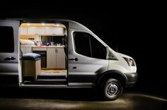 A Ford Transit is a great choice for a camper van conversion. They are cheaper than Mercedes Sprinters, and are easy to drive and maneuver. Check out why you night want to consider a Ford Transit camper van. #thewaywardhome #vanlife #campervan #vanbuild #vans #camping #camper Ford Transit Conversion, Cargo Van Conversion, Sprinter Van Conversion, Camper Conversion, Ford Transit Connect Camper, Ford Transit Campervan, Campervan Bed, Mini Bus, Mercedes Sprinter Camper Van