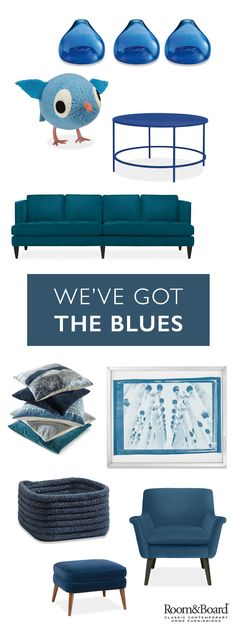 Introduce indigo to your space through subtle home accent accessories or bold statement sofas and chairs. Our modern furniture designs will make any room pop.