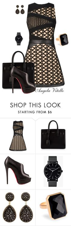 Untitled #601 by angela-vitello on Polyvore featuring David Koma, Christian Louboutin, Yves Saint Laurent, Ringly, The Horse and Charlotte Russe