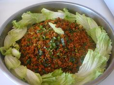 It is so dull as raw, raw meatballs without soaking. Even the rest . - Delicious Meets Healthy: Quick and Healthy Wholesome Recipes Appetizer Salads, Appetizer Recipes, Chefs, Turkish Salad, Easy Cooking, Cooking Recipes, Falafels, Good Food, Yummy Food