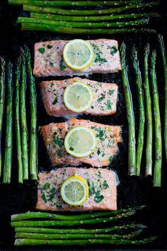 Sheet Pan Salmon with Asparagus. Sheet Pan Salmon with Asparagus Recipes This simple sheet pan salmon with asparagus recipe is the perfect quick and easy dinner for spring. It takes less than 30 minut. Oven Baked Salmon, Baked Salmon Recipes, Roasted Salmon, Seafood Recipes, Smoked Salmon, Chicken Recipes, Salmon And Asparagus, Asparagus Recipe, Salmon Curry