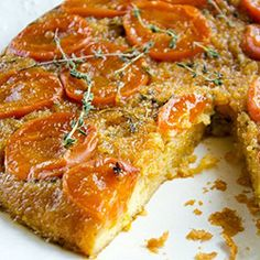 Similar to a tart tartin, this recipes infuses herbs with fruity sweetness.