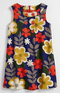 Mini Boden Button Pinafore Dress (Little Girls & Big Girls) available at Nordstrom -- Thanksgiving outfit??