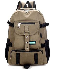 2017 New Fashion arcuate shouider strap zipper solid casual bag male backpack school bag canvas bag designer backpacks for men #Affiliate