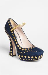 Oh, and while I'm gushing about Miu Miu...I give you the Studded Mary Jane Pump.