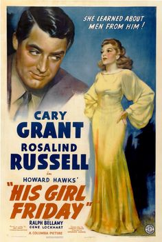 Poster from the film His Girl Friday
