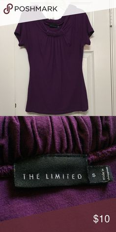 Short Sleeve Top Cute purple top from The Limited. Size small. Any questions please ask. The Limited Tops