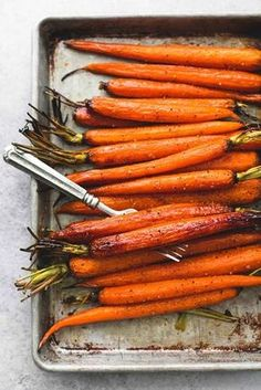 Tender honey brown sugar roasted carrots seasoned and baked to perfection make the perfect Easter holiday or everyday easy side dish.