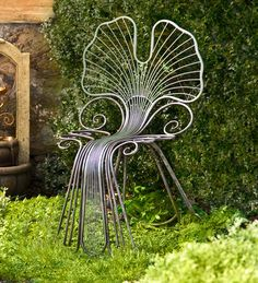 Metal Ginkgo Leaf Outdoor Chair - uh-oh - just might have to have this for the garden