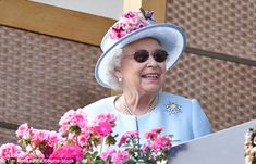 The monarch looked to be in excellent spirits as she took in the action at Royal Ascot, one of her favourite days of the year. The 92-year-old was resplendent in powder blue