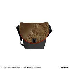 Mountains and Buried Ice on Mars Messenger Bag