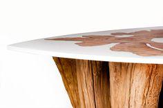 Modern Log Furniture Fuses Sliced Trunks & Organic Resins