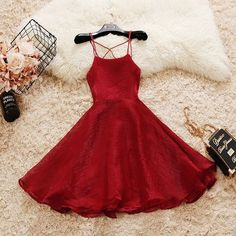 Cute Voile Dress - - Cute Voile Dress – HipStore: Cute Dresses, Tops, Jewelry & Shoes for Women Red Hoco Dress, Hoco Dresses, Dance Dresses, Dress Outfits, Fashion Outfits, Summer Dresses, Dress Prom, Wedding Dresses, Cheap Fashion