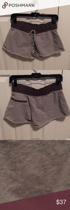 Lululemon grey cloth shorts sz 8 55712 Dark and light grey cloth soft shorts size 8 good condition lululemon athletica Shorts