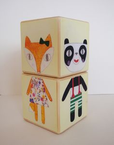 Animal mix and match blocks, by Julia Staite via Folksy, £10.00